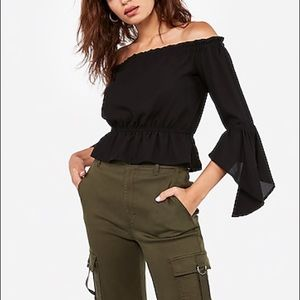 Express Off The Shoulder Bell Sleeve Top